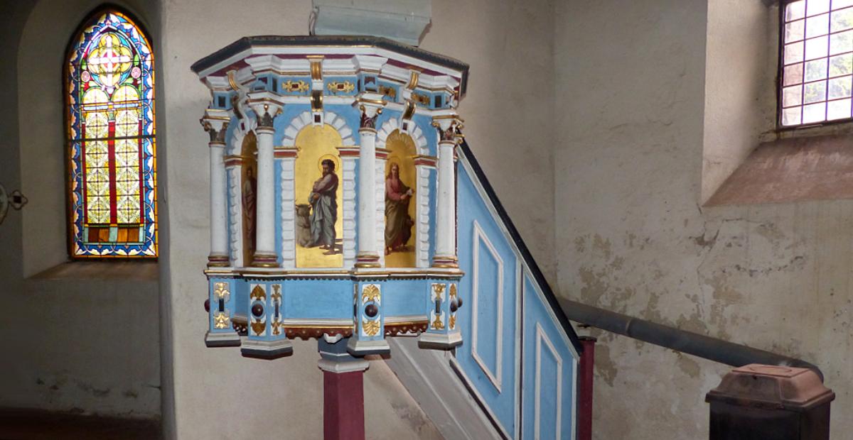 Kanzel in der Bricciuskirche Bad Belzig